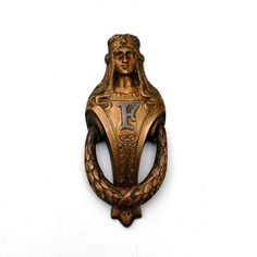 Antique Renaissance Woman Door Knocker Neoclassical by KnockPlease, $264.95
