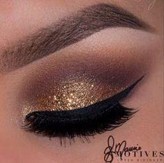 Maquillaje de noche con glitter dorado paso a paso #GlitterHair