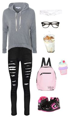 """Untitled #5078"" by northamster ❤ liked on Polyvore featuring Boohoo, Glamorous, Victoria's Secret, DC Shoes and H&M"