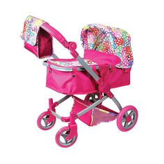 R- PINK DOLL STROLLER PRAM CARRIAGE MULTIFUNCTION LISSI BITTY BABY AMERICAN GIRL #LissiCityStroller