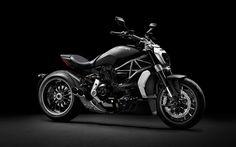 壁紙をダウンロードする ドゥカティXDiavel, クルーザー, 黒バイク, 涼しいバイク, イタリアの二輪車
