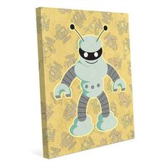 "Click Wall Art 'Robo Fighter' Graphic Art on Wrapped Canvas Size: 10"" H x 8"" W x 0.75"" D"