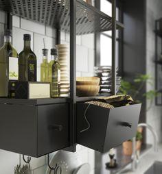 FALSTERBO wandplank | #IKEA #IKEAnl #kast #keuken #eten #koken #zwart