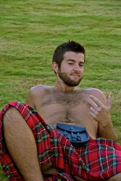 Oh my Goddess.. It's a Kilt on the grass! =] WOW