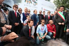 Ayrton Senna Tribute 2014:Fernando Alonso, Trulli ,Patrese,Luca Badoer,Pierluigi Martini,Berger,Bianchi,Kimi Raikkonen,De la rosa,Emanuele Pirro,Ivan Capelli,