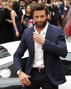 The Wolverine #suits up in Louis Vuitton