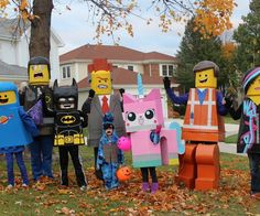 We loved The Lego Movie and wanted to recreate some of our favorite characters. The costumes took a LONG time to create (about 70 hours), but the reactions were priceless.