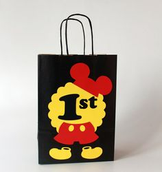 Mickey and Minnie favor bags for Boy Girl Twins birthday