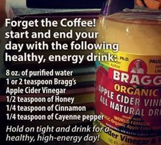Apple cider vinegar drink WORD TO THE WISE!!! This can drastically throw off the goid acids in your tummy!!! My gastro said this was the worst idea!!