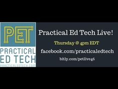 Earlier today I hosted the second installment of Practical Ed Tech Live. Just like last week I answered the questions that were submitted to me during the previous week. I'm also open to answering questions submitted on the fly. Embedded below you will see the recording of the session followed by text of the questions that I answered live. Practical Ed Tech Live Questions for April 6 2017Question 1 I love your weekly newsletters and have had the opportunity to try and share some of the…