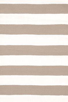 Dash & Albert Catamaran Stripe Khaki/White Indoor/Outdoor Rug, 259 x 335 cm