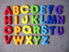 PDF Pattern Stuffed Felt Alphabet Felt English alphabet, Felt Letters Colorful, Alphabet, Handmade Alphabet, Felt Magnet Letters by Feltamour on Etsy https://www.etsy.com/listing/258514747/pdf-pattern-stuffed-felt-alphabet-felt