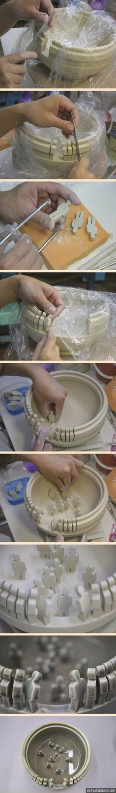 """I love this bowl - I would call it """"Drop in the puddle of humanity!"""" I want to make one."""