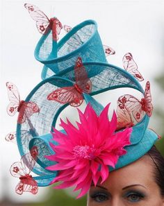 Unique hat. I could see Effie from Hunger Games wearing this!