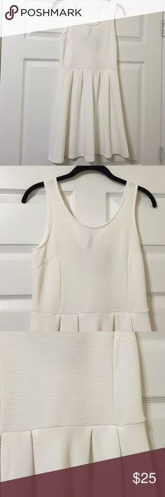 White Fit and Flare Dress Perfect  for summer!lightweight Rayon with Spandex for the right amount of stretch Dresses