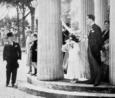 Le nozze di Edda Mussolini (1910-1995) e Galeazzo Ciano (1903-1944), nell'aprile 1930, a Roma