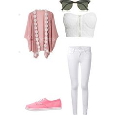 a day out shopping by kklewis2005 on Polyvore featuring polyvore fashion style NLY Trend Frame Denim Vans Ray-Ban