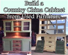 The Homestead Survival | Build a Country China Cabinet from Used Furniture | http://thehomesteadsurvival.com  Homesteading