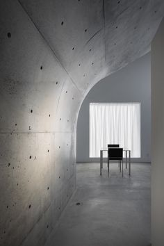 Concrete wall.  I want this in guest bathroom.
