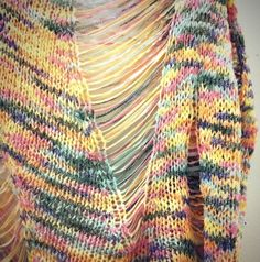 love the colours, love the drop loop stitches, wish i knew exactly what the hell this is.