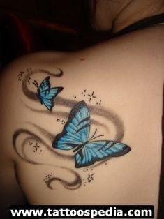 Butterfly Tattoos 4 - http://tattoospedia.com/butterfly-tattoos-4/