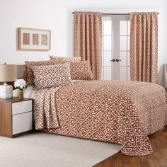 Bryce Rust Reversible Chenille Bedspread