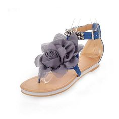 YABINA Women Summer Gladiator T Strap Sandals Dress Flats Thongs ** Read more  at the image link.