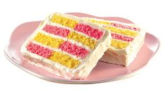 Spring Velvets Checkerboard Cake #recipe http://www.yummly.com/recipe/Spring-Velvets-Checkerboard-Cake-531094
