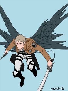 jean with wings Attack on titan