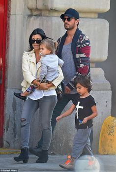 Expanding family: Kourtney Kardashian and Scott Disick are parents to two young children, Mason and Penelope