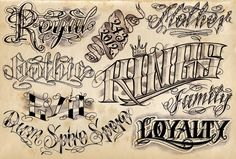12 Cool Tattoo Lettering Designs - Project 4 Gallery