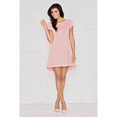 Różowa sukienka Infinite You M003 to model o asymetrycznej długości. Sukienka wykonana jest z wysokiej jakości elastycznej dzianiny. Z tyłu piękna kontrafałda. #dresses #pinkdress #fashion #trends #style