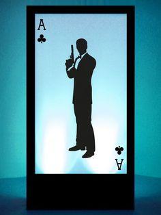 Ace of Clubs Silhouette Panel | James Bond Theme Party | James Bond Theme | Event Prop Hire