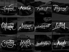 Lettering Cars on Behance
