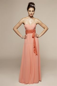 Sweetheart Chiffon A-Line Peach Prom Bridesmaid Dresses. suit dresses,dress suit,suiting dresses,suiting dress