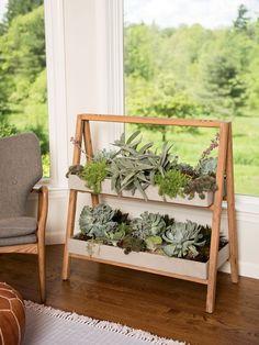 Terra A-Frame House Plant Shelf Indoor | Gardeners.com