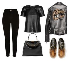 Untitled #317 by cafria29 on Polyvore featuring polyvore mode style Gucci River Island Fendi fashion clothing