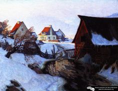 Early Morning On March Artwork By Clarence Gagnon Oil Painting & Art Prints On Canvas For Sale Canadian Painters, Canadian Artists, Clarence Gagnon, Of Montreal, Art Prints For Sale, Oil Painting Reproductions, Artist Art, Canvas Art Prints, Great Artists