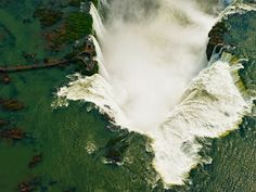 Iguazu Falls, Argentina-Venezuela border Photograph by Chris Schmid Aerial view of Iguazu Falls, Brazil-Argentina border What A Wonderful World, Wonderful Places, Beautiful Places, National Geographic Fotos, Brazil Argentina, Wallpaper Travel, Nature Wallpaper, Foto Nature, Exotic Places