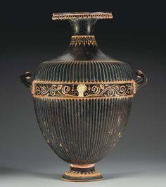 AN APULIAN GNATHIAN-WARE HYDRIA CIRCA 325-300 B.C.