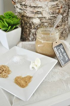 DIY sea salt & sugar Hand & body scrub - Easy to make & a must for the summer months to keep in the shower to remove rough & dry skin. Gives you the silkiest glowing skin ever!