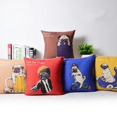 Dog pillow Pop Art decorative pillows cartoon design 18 inch