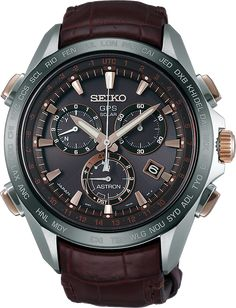 The 2015 Seiko Astron GPS Solar Chronograph SSE025 is a striking timepiece… #Luxurywatches