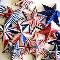 labor day crafts for kids Make your own fourth of july party decoration! This listing is for 12 difrrent designs of stars in red white and blue sizes). Super Easy Crafts For Kids, Kids Crafts, Fourth Of July Crafts For Kids, Crafts For Seniors, Toddler Crafts, Summer Crafts, 4. Juli Party, 4th Of July Party, July 4th