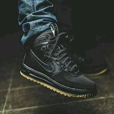 NIKE LUNAR AIR FORCE 1 DuckBoot Black Wheat Gum 805899 003 | Kixify Marketplace