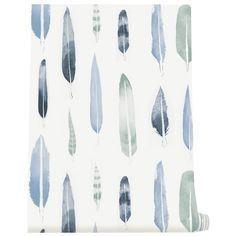 Feathers Wallpaper Chalkhill Blue (1 800 UAH) ❤ liked on Polyvore featuring home, home decor, wallpaper, backgrounds, blue wallpaper, blue home accessories, feather wallpaper, miniature wallpaper and blue home decor