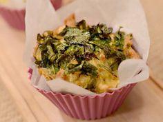 Muffins de espinaca y cheddar (o fontina + rucula) - Mauricio Asta