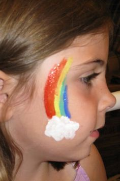 Face painting at a Amusement Park (Colossal Coaster Ride VBS 2013)