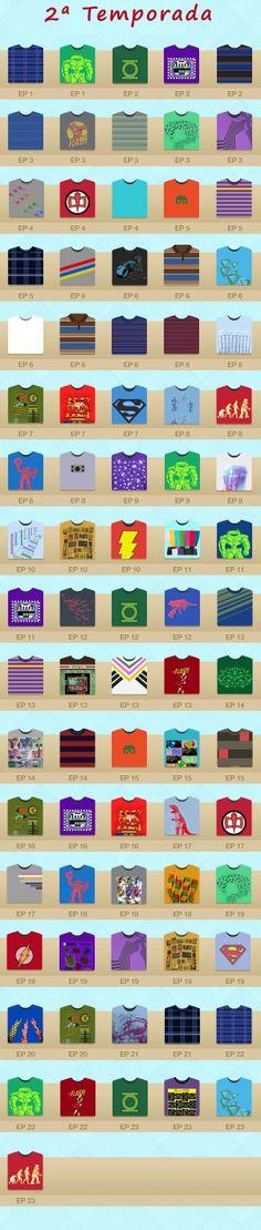 Todas as camisetas do Sheldon em The Big Bang Theory