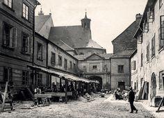 Warszawa - podwórze kuchenne Zamku Królewskiego (1925)
